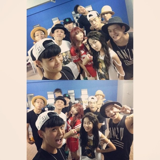 140524_Selfie with the dancers in the world
